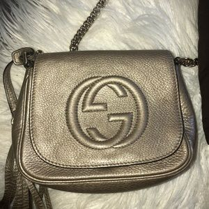 Gucci Bags - Authentic Gucci Gold Crossbody